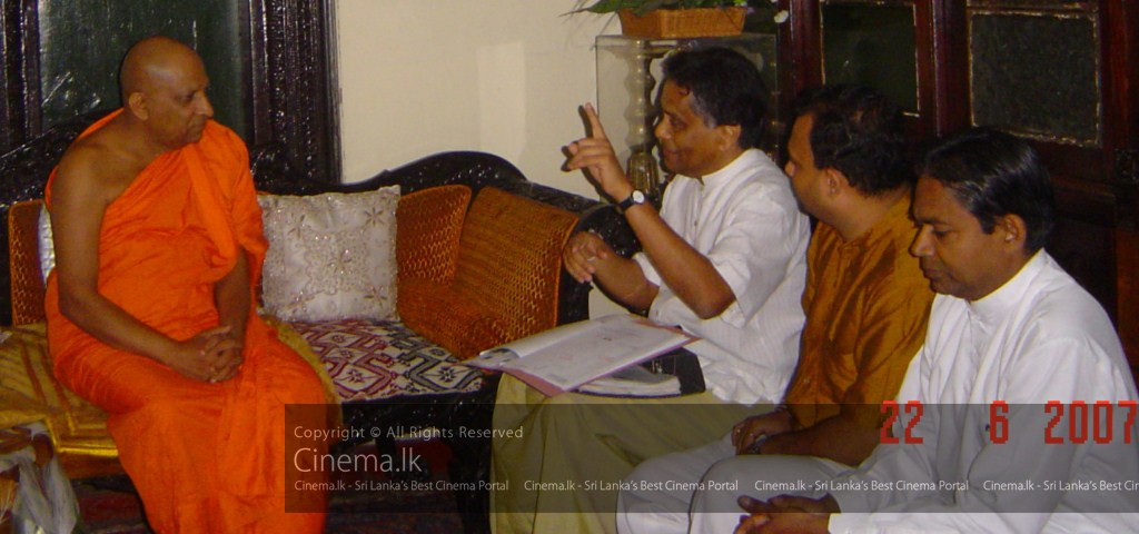 Mahanayake of Malwatte being briefed by Producer of Sri Siddhartha Gauthama Epic Motion Picture [1024x768]
