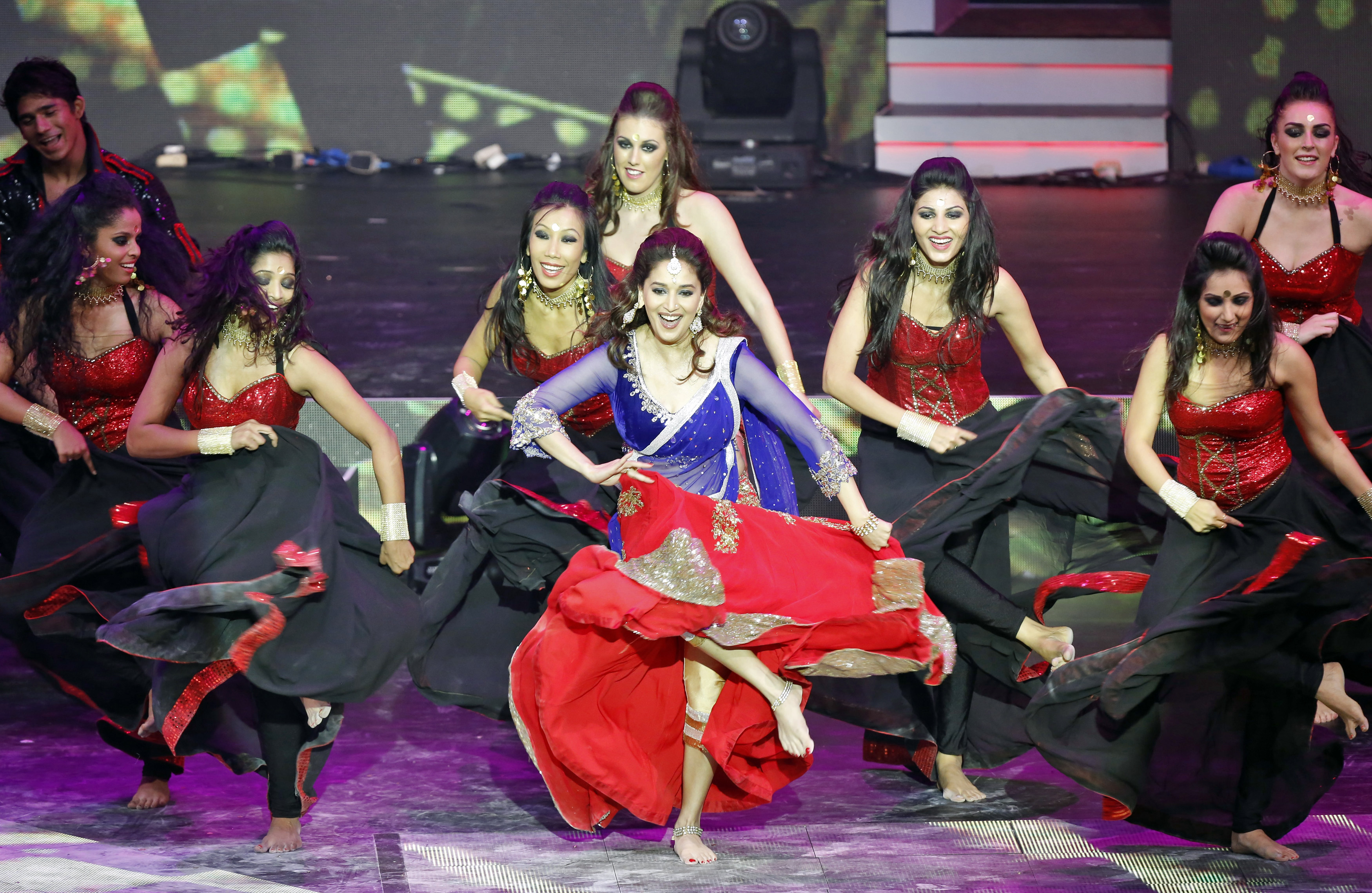 Madhuri Dixit performs at the 14th annual International Indian Film Academy (IIFA) awards show in Macau